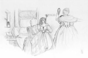 Sketch-a-day 05-08-13: The Mantua Makers by ThroughMyThoughts