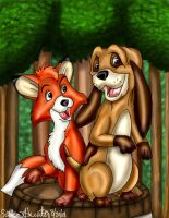 The Fox and the Hound by peanutfilbert