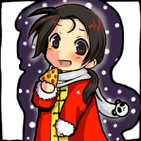Christmas Pizza aru by miri-kun