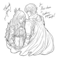 The King and Queen by AliceTheBRabbit
