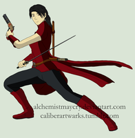The Red Ronin by AlchemistMayCry