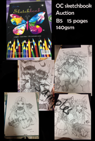OC Sketchbook 18 Pages Auction Closed by shrimpHEBY