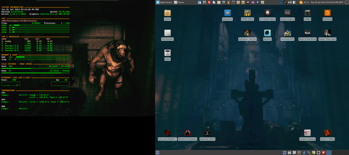 July Desktop 2014 - Arch Linux and Xfce 4.10 by hamishpaulwilson