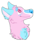 cotton candy dog by mettabot