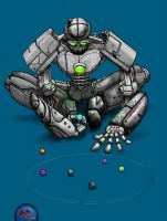 Robot playing marbles-color by tptrsn