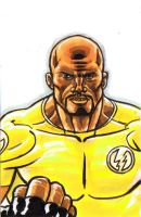 Luke Cage Sketch card tryout by Ericdimension