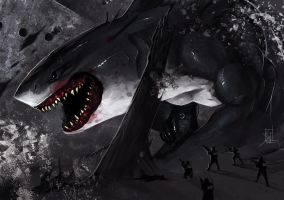 Shark Attack by TheRisingSoul