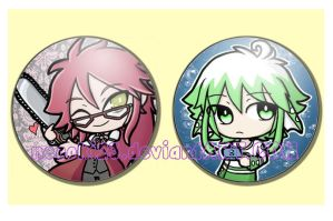 Commission 44: Grell and Colo Pins by neooki23