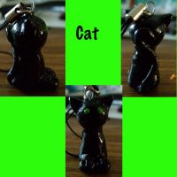 Fimo cat by mooology