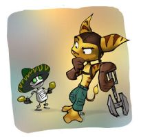 Ratchet et Clank by volvis