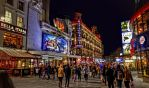 London - Leicester Square at night by pingallery