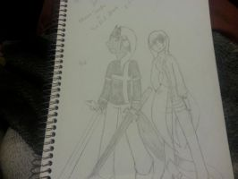 Guild Leader and 2nd Lt. Nezzie and Sin by NezzieSeraphim087