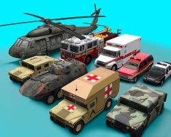 Low poly vehicles. by Choryugin