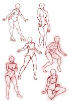 Female Poses by s-traszydlo
