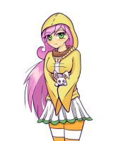 Humanized Fluttershy by JoyfulInsanity