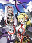 Aigis and Labrys - Snake trouble by Darkenrok by Shaded-Seraphim