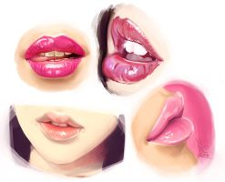 Lips Practice by EmperorAtma