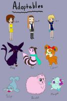 Adoptables! by sarahthemerp
