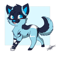 Little Chibi Kitou by Flame-Expression