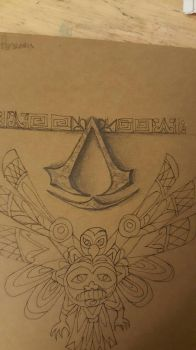 Hubby's tattoo sketch by SharonIllumined