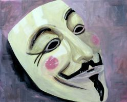 Guy Fawkes Mask by RhymeLawliet