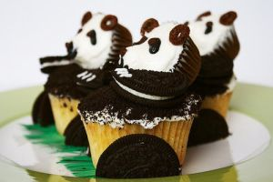 Panda Cupcakes by CreamTroll