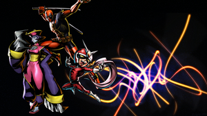 UMVC3 Team Wallpapers: Deadpool, Joe, and Hsien-Ko by bxb-minamimoto