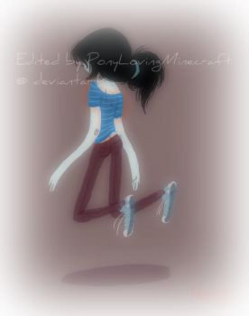 Marceline Fan Art Edited #6 (in blue! :D) by PonyLovingMinecraft