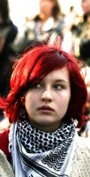 Portraits In Protest - Redhead by Alphamoelgaard