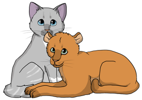 Request: Silverheart and a cougar by Animalible