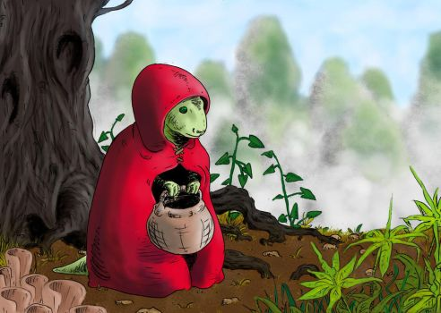 reptile riding hood by superdunk