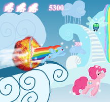 Rainbow Pegasus Attack by bibliodragon