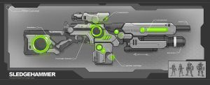 Sci Fi Movie Gun Concept Design by adamski1616