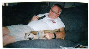 Two old dogs sleeping by desertdogh