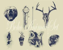 HQ Boho Animal Set by lomochic