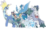 Elsa - Pokemon Style (With Team) - Team v.3 by Tails19950