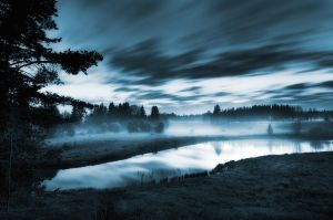 Night River by MikkoLagerstedt
