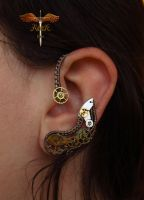 Steampunk earcuff by alina-loreley