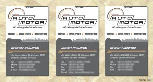 Auto Motor name card design by kaizer-phoenix