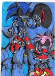 Metal Sonic and Metal Amy by Virus-20