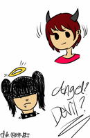 Angels or Devils? by prussianwolf13
