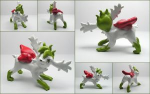 Shaymin Sky Form Sculpture by LeiliaClay