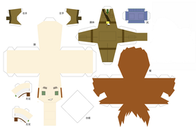 Hetalia Papercraft - Scotland by Prussia-Awesome-Gil