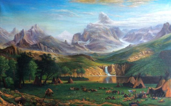 analysis albert bierstadt s rocky mountains lander s peak The rocky mountains, lander's peak is an 1863 landscape oil painting by the german-american painter albert bierstadtit is based on sketches made during bierstadt's travels with frederick w.
