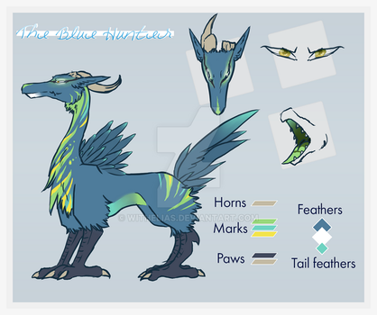 The blue hunter adoptable OPEN by Withelias