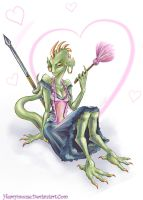 The Lusty Argonian Maid by HeavyMouse