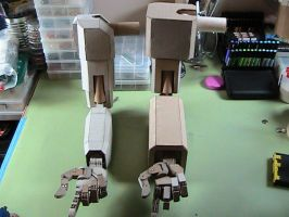 Completed robot arms comparison by Pompster