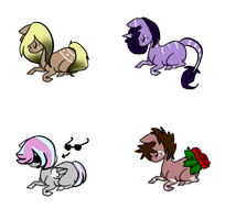 Marked pony adopts :: 2 left by InuLover097
