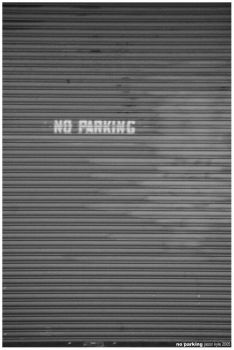 no parking by habit