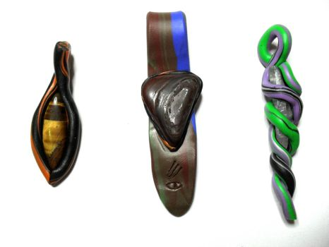 Fimo Pendants 10-12 by kaienne